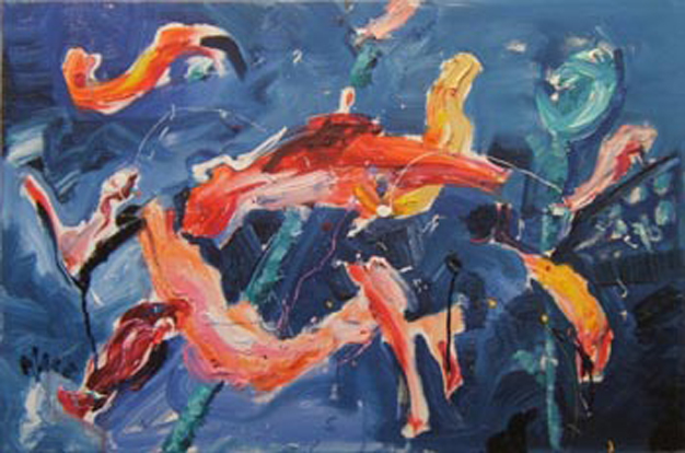 a003 2010 'Koi Abstract' 30'x20""