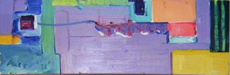 """SOLD A005 2010 'Abstract' 36""""x12"""""""
