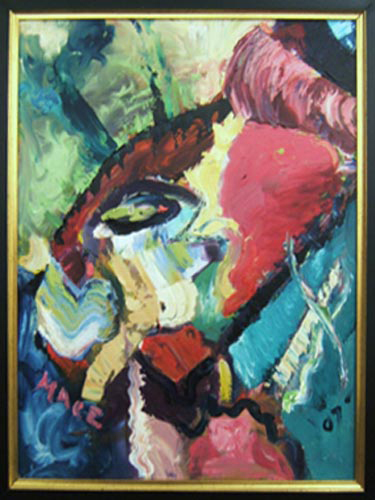 """SOLD A006 2007 'Abstract' 18""""x24"""""""