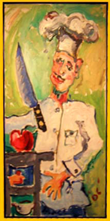 "SOLD K002 2006 'Chef' 18""x36"""