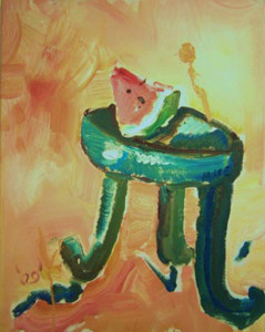 K005 2009 'Watermelon on Stool'