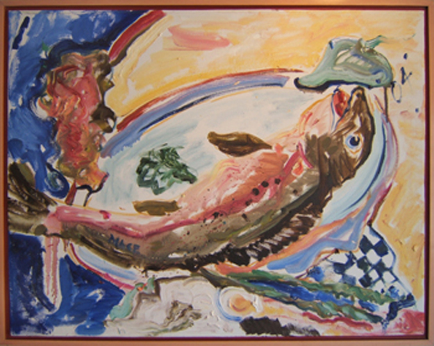 "K017 2004 'Laughing Fish' 30""x24"""""