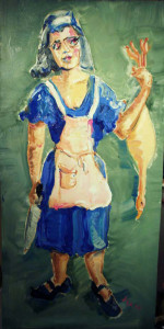 K018 2013 'Woman with Goose and Apron'