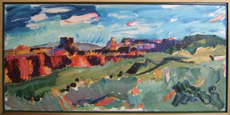 "SOLD L005 2008 'Confluence from the Spur' 36""x18"""