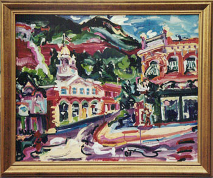 "SOLD L006 2001'Dowtown Ouray' 36""x30"""