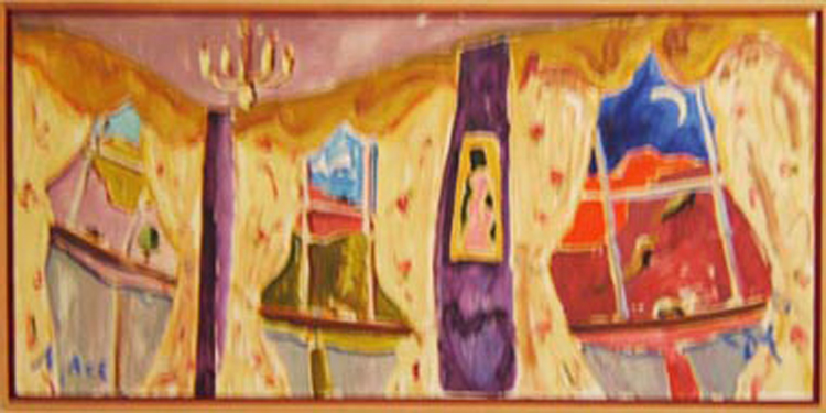 "SOLD L007 2004 'Morning, Noon, and Night' 36""x18"""