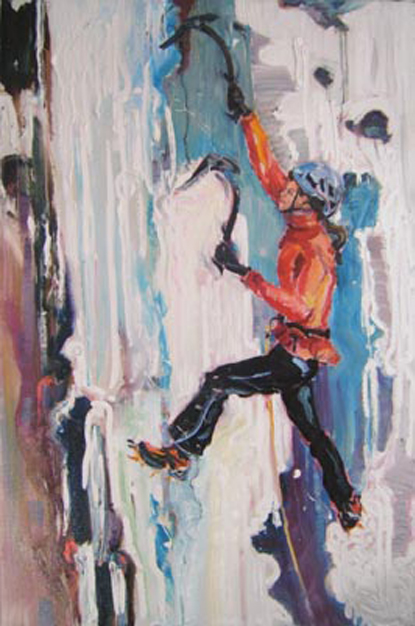 "SOLD L014 2008 'Xchel Climbing' 20""x30"" (also in People)"