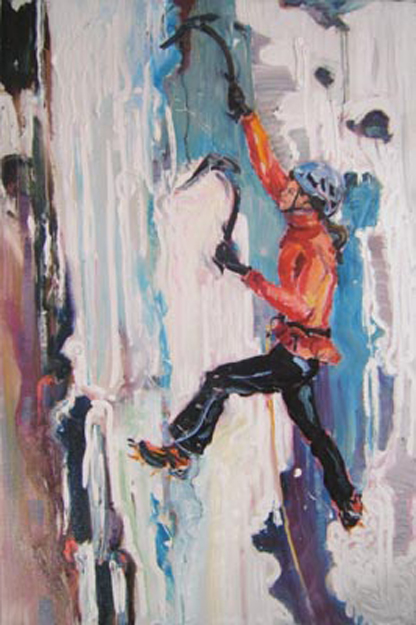 "SOLD L014 2008 'Xchel Climbing' 20""x30"" (also in Landscape)"