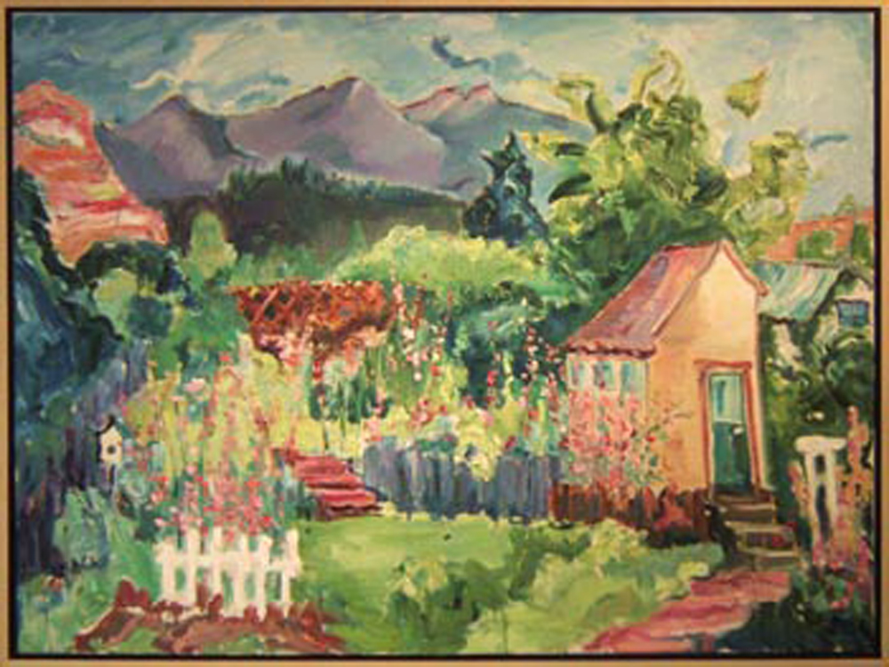"SOLD L018 2009 'Ouray Garden' 48""x36"""