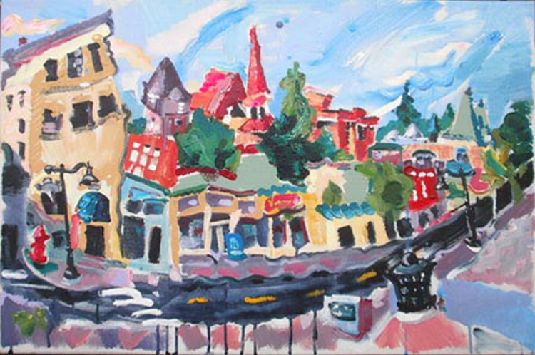 "SOLD L029 2013 'Rossland BC' 36"" x 24"""