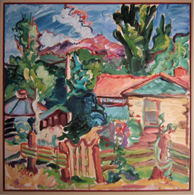 "SOLD L036 2003 'Mt. Sopris Ranch ' 30""X30"""