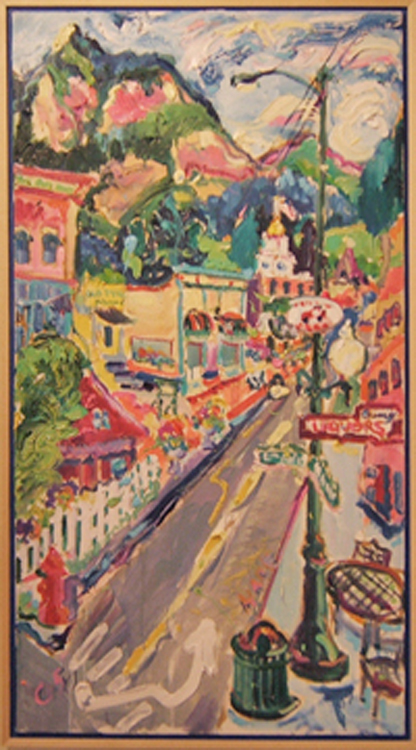 "SOLD L037 2005 'Main Street, Ouray' 20""x36"""