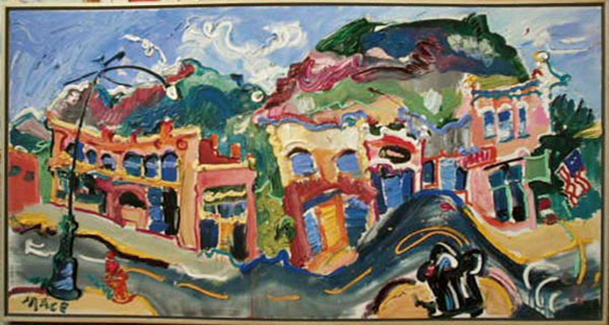 "SOLD L040 2010 'Story Block Ouray, Colorado' 60""x32"""