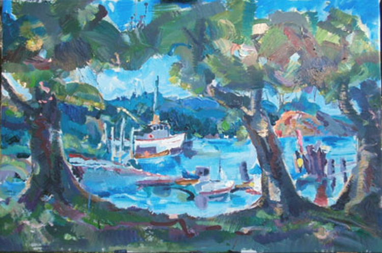 "L054 2013 'Heriot Bay BC' 36"" x 24"""