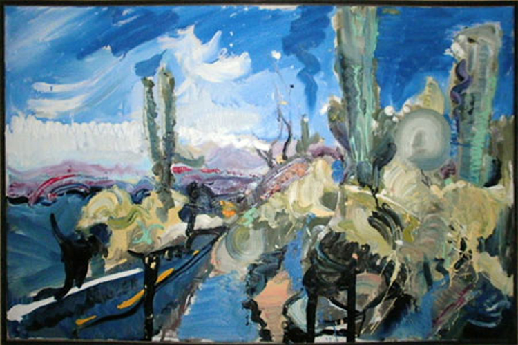 "L057 2013 'Catalina Highway' 36""x24"""
