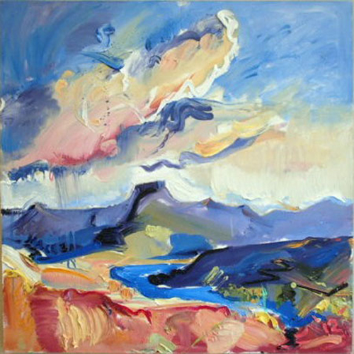 "L060 2013 'Rain Over Colorado River'' 24""x24"""