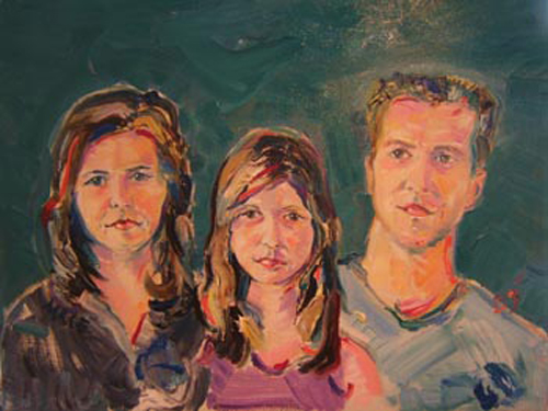 "SOLD P020 2009 'Family Portrait' 24""x18"""