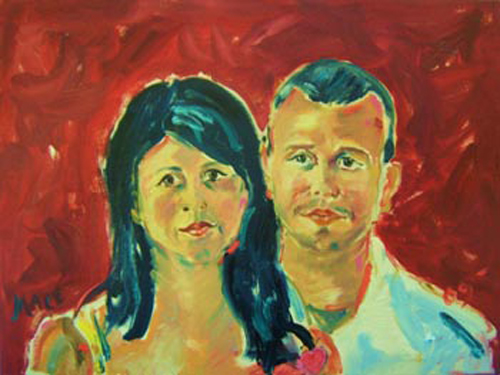 "SOLD P024 2009 'Latin Couple' 24""x18"""