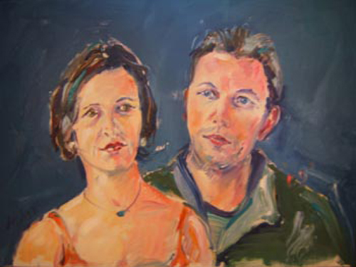 "SOLD p026 2009 'Wedding Couple' 24""x18"""
