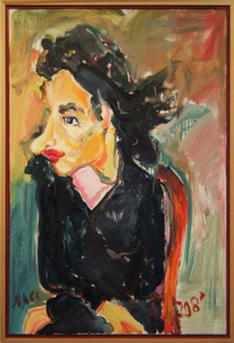 "P044 2008 'Portrait of Madame Tennet After Soutine' 22""x32"""