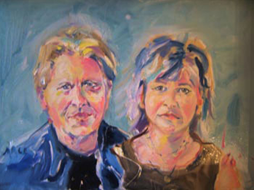 "SOLD P050 2010 'Craig and Carol' 24""x18"""