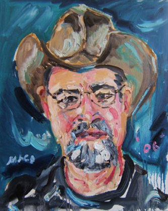 "SOLD P051 2008 'Texas College Administrator' 16""x20"""