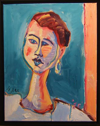 "SOLD P056 2010 'Woman with Earring' 16""x20"""