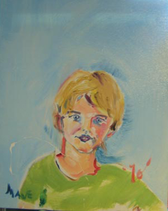 "SOLD P075 2010 ""Young Boy' 16""x20"""