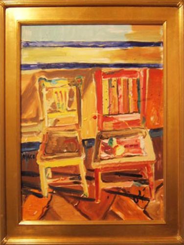 "SOLD SL012 2004 'Chairs' 18"" X 24"""