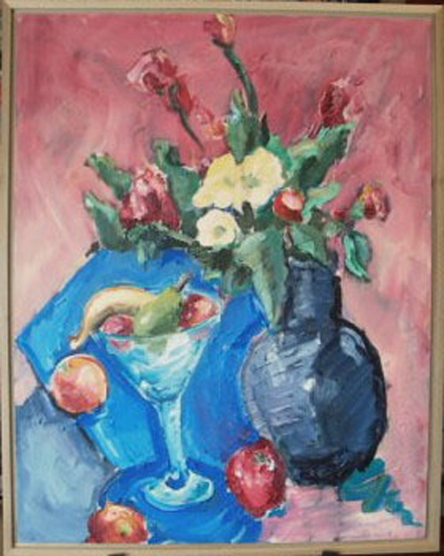 "SL023 'Flowers with Fruit' 24""x30"" Oil"
