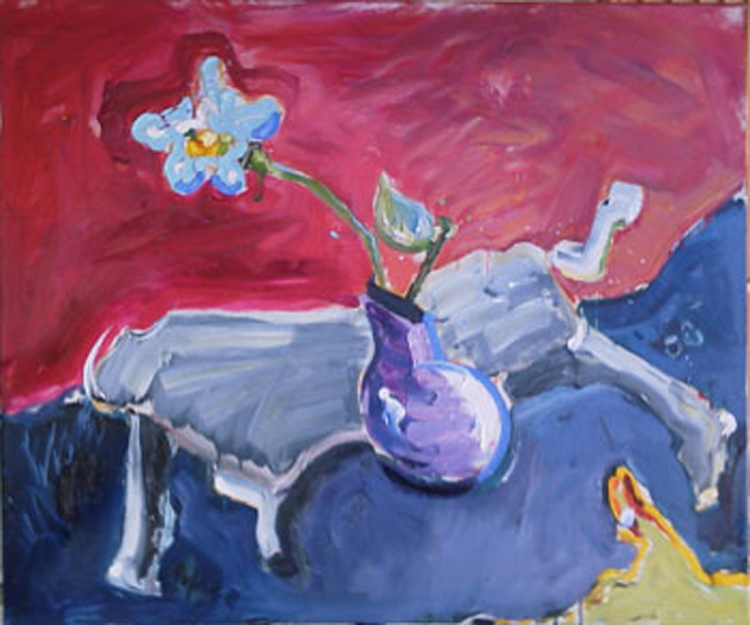 "SL030 'Galloping Table' 36""x30"" Oil on Linen"