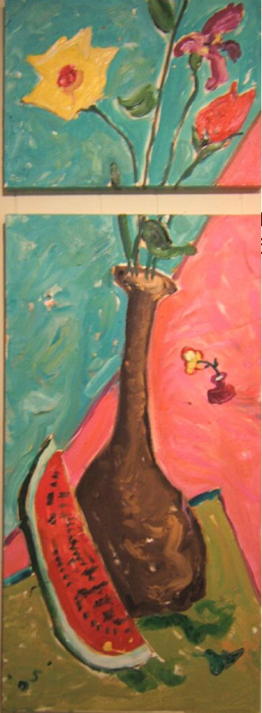 "K022 'Still Life with Watermelon' 18""x50"" (also in Kitchen)"